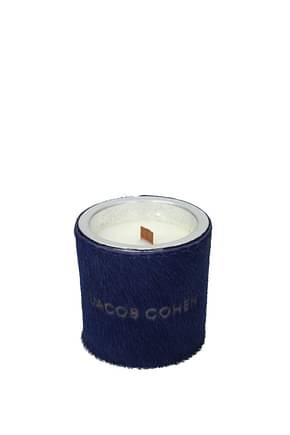 Jacob Cohen Idées cadeaux handmade scented soy candle Femme Poney Cuir Bleu Bleu Marine