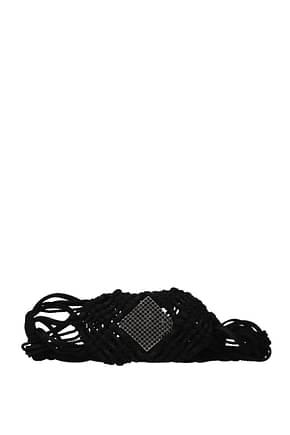 Saint Laurent High-waist belts Women Fabric  Black Black