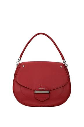 Pollini Handbags Women Polyurethane Red Brick Red