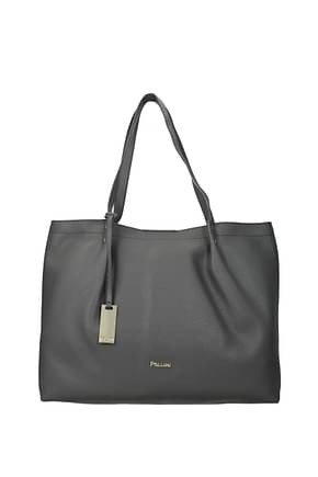 Pollini Shoulder bags Women Polyurethane Gray Nickel