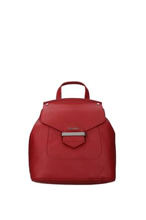 Pollini Backpacks and bumbags Women Polyurethane Red Cherry