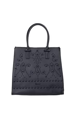 Pollini Handbags Women Leather Blue Dark Blue