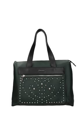 Pollini Handbags Women Polyurethane Green Black