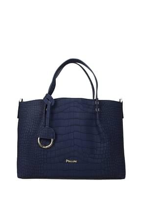 Pollini Handbags Women Polyurethane Blue Royal Blue