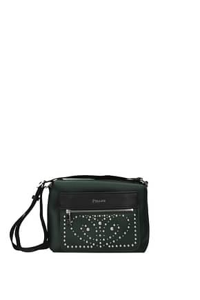 Pollini Crossbody Bag Women Polyurethane Green Black
