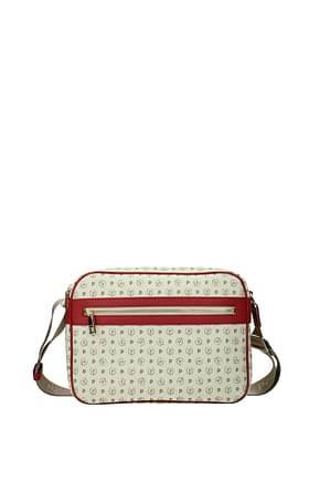 Pollini Crossbody Bag Women PVC Beige Red
