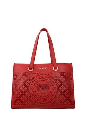Love Moschino Shoulder bags Women Polyurethane Red Lipstick