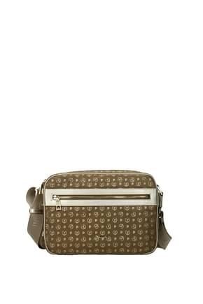 Pollini Crossbody Bag Women Nylon Brown Gold