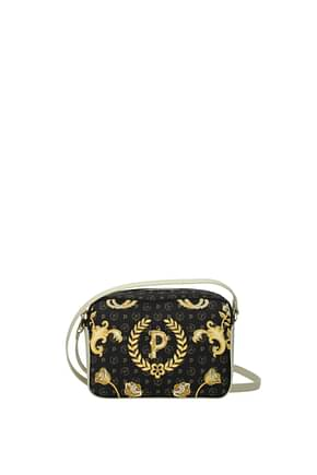 Pollini Crossbody Bag Women PVC Black Ivory