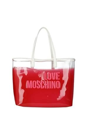Love Moschino Shoulder bags Women PVC Pink White