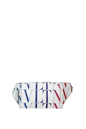 Valentino Garavani Backpack and bumbags Men Leather White Multicolor