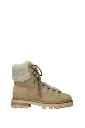 Jimmy Choo Ankle boots eshe Women Suede Beige Natural