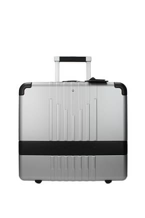 Mont Blanc Wheeled Luggages pilota my 4810 33l Men Polycarbonate Silver Black
