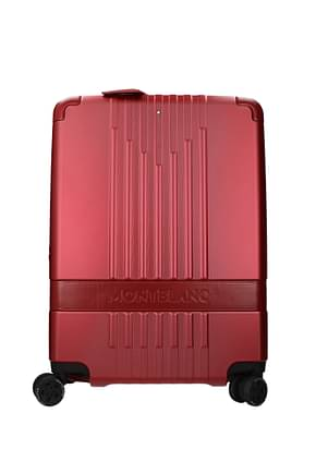 Mont Blanc Wheeled Luggages cabin 37l Men Polycarbonate Red Lipstick