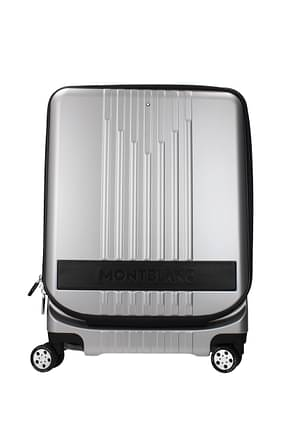 Mont Blanc Wheeled Luggages my4810 Men Polycarbonate Silver Black