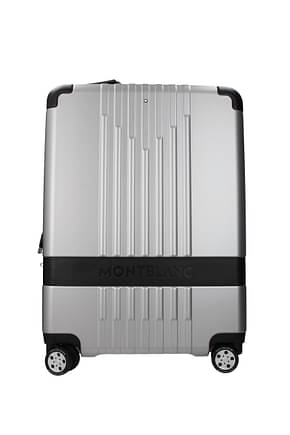Mont Blanc Wheeled Luggages cabin 37i Men Polycarbonate Silver Black