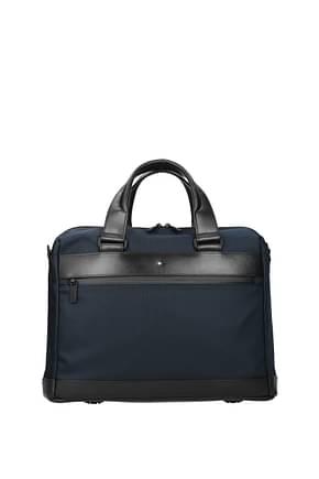 Montblanc Work bags Men Fabric  Blue Blue Navy