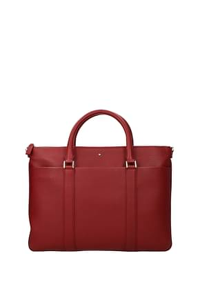 Montblanc Work bags Men Leather Red Dark Red