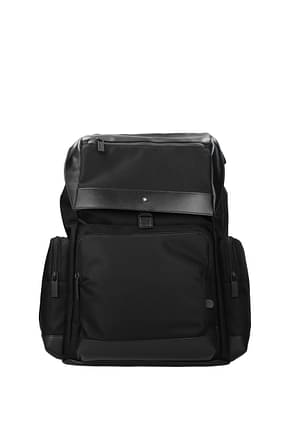 Montblanc Backpack and bumbags Men Fabric  Black