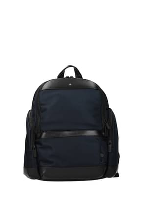 Montblanc Backpack and bumbags Men Fabric  Blue Blue Navy