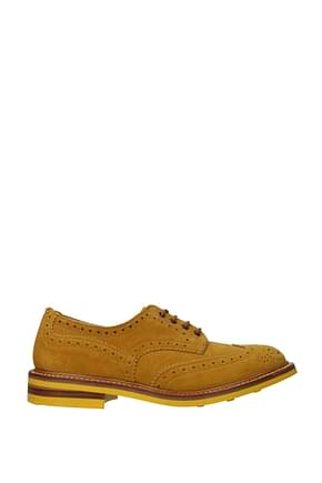 Tricker's Lace up and Monkstrap Men Suede Brown