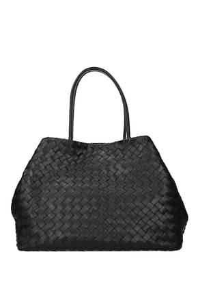 Bottega Veneta Shoulder bags ancestor buckle Women Leather Black Black