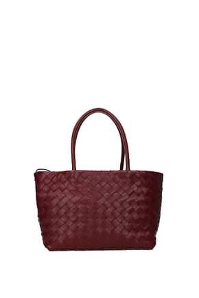 Bottega Veneta Handbags ancestor buckle Women Leather Red Bordeaux