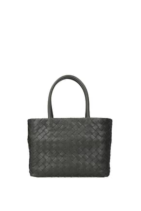 Bottega Veneta Handbags ancestor buckle Women Leather Gray Graphite