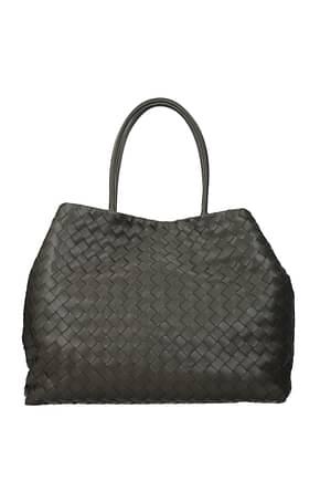 Bottega Veneta Shoulder bags ancestor buckle Women Leather Gray Graphite