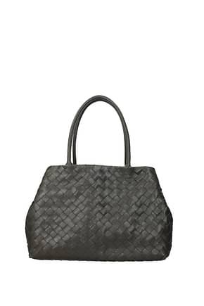 Bottega Veneta Shoulder bags Women Leather Gray Graphite