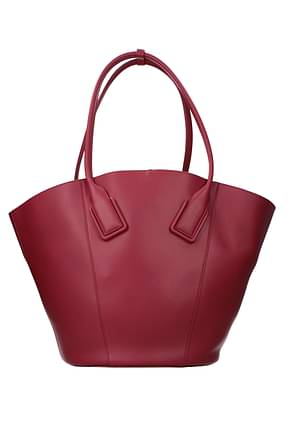 Bottega Veneta Shoulder bags french Women Leather Fuchsia Mulberry