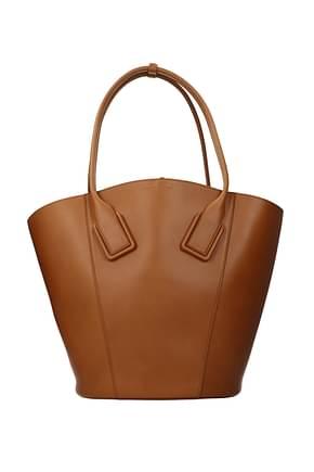 Bottega Veneta Shoulder bags french Women Leather Brown Wood