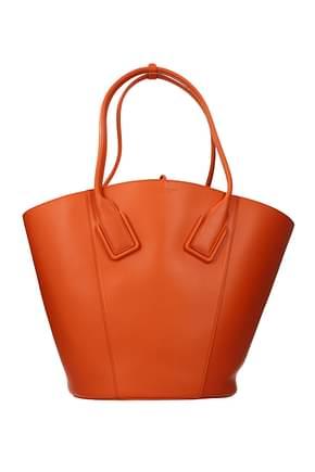 Bottega Veneta Shoulder bags french Women Leather Orange Lobster