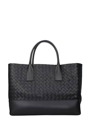 Bottega Veneta Handbags Men Leather Blue Midnight Blue