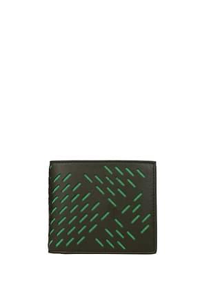 Bottega Veneta Wallets Men Leather Green Military Green