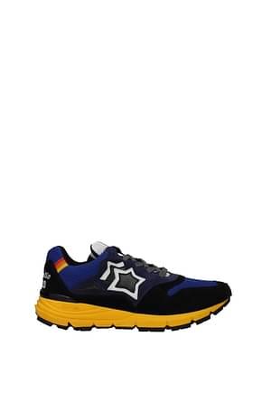 Atlantic Stars Sneakers polaris Uomo Tessuto Nero Blu Navy