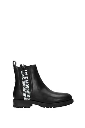 Love Moschino Ankle boots Women Leather Black
