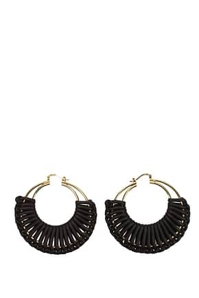 Bottega Veneta Earrings Women Leather Brown