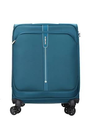Samsonite Wheeled Luggages popsoda 40l Men Polyester Green Teal