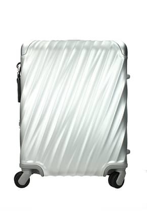 Tumi Wheeled Luggages 35l Men Aluminum Gray Aluminum
