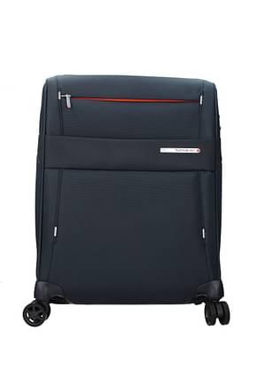 Samsonite Wheeled Luggages duopack 42/49l Men Polycarbonate Blue Blue