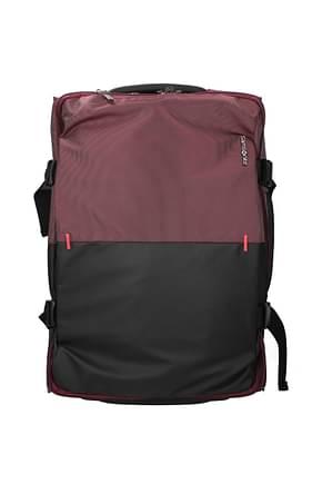 Samsonite Wheeled Luggages rythum 47l Men Polycarbonate Black Burgundy
