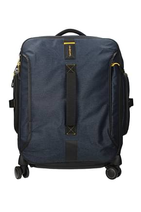 Samsonite Wheeled Luggages paradiver light Men Polyester Blue Jeans