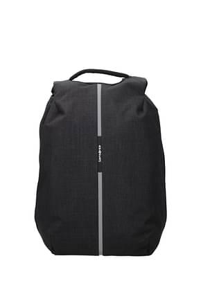 Samsonite Backpack and bumbags securipak 17l Men Fabric  Gray Steel