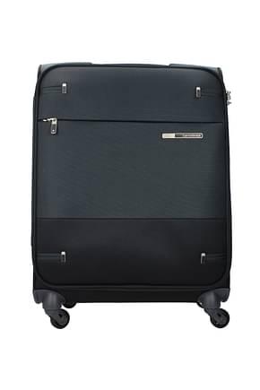 Samsonite Wheeled Luggages base boost 39l Men Polyester Black Anthracite