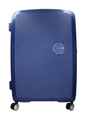 American Tourister Valises à roulettes soundbox 97/110l Femme Polypropylène Bleu Bleu Navy