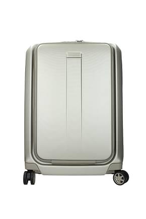 Samsonite Wheeled Luggages prodigy 40/47l Men Polycarbonate Gold Ivory