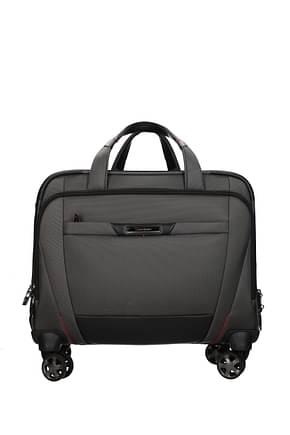 Samsonite Wheeled Luggages pro dlx 5 22l Men Nylon Gray