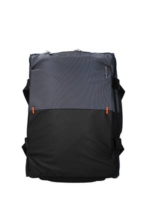 Samsonite Wheeled Luggages rythum 47l Men Polycarbonate Black Blue