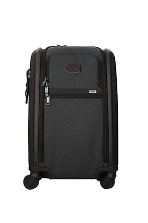 Tumi Wheeled Luggages alpha 3 35l Men Polyester Brown Anthracite
